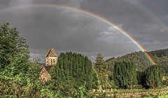 Under the Rainbow (dmoon1) Tags: rainbow wicklow nikon d80 church graveyard ireland