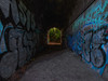 The Park to the Tunnel or The Tunnel to the Park (Steve Taylor (Photography)) Tags: tunnel park art digital graffiti tag uk gb england greatbritain unitedkingdom margate tree glow texture summer morphs perspective
