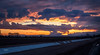 Roadside Sunset (NormFox) Tags: trees country landscape sunset mountains outdoors beams roadside sky farm rural colors califorinia clouds