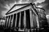 Pantheon B&W Side (DieLei) Tags: blackwhite black whit bw roma italy pantheon building sky tokina 1116 nikon clouds wide europe travel sideseeing
