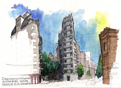 Pasaje E.S. Discepolo / E.S. Discepolo Passage: (ftessa) Tags: argentina buenosaires croquiserosurbanos urbansketchers croquis sketches sketch watercolours watercolour
