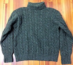 Cabled fisherman turtleneck jumper (Mytwist) Tags: jdamraksa polo ralph lauren green donegal wool fisherman hand knit turtleneck sweater tn timeless designed style fetish fashion bulky modern