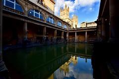 Roman Baths (Nige H (Thanks for 12m views)) Tags: city cityscape architecture history historicbuildings roman romanbaths bath bathabbey reflection