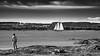 Bateau-7 (Tasmanian58) Tags: man river stlawrenceriver stlawrence stlaurent orleansisland iledorleans voiliers sail vivitar sony a7ii landscape bw blackandwhite noiretblanc netb nb