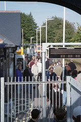 Official Opening of Chandlers Ford Stn., 19 Oct 2003 (Ian D Nolan) Tags: railway chandlersfordstation station 35mm epsonperfectionv750scanner dhmu