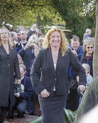 Official Opening of Chandlers Ford Stn., 19 Oct 2003 (Ian D Nolan) Tags: chandlersfordstation charliedimmock 35mm epsonperfectionv750scanner