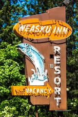 Weasku Inn Resort (Thomas Hawk) Tags: america grantspass oregon southernoregon usa unitedstates unitedstatesofamerica weaskuinn weaskuinnresort fish neon fav10