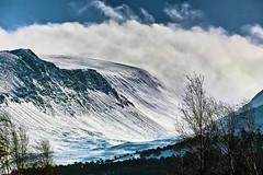 Cairngorm pass (Fr Paul Hackett) Tags: mountain snow trees crag clouds