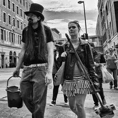 (daveson47) Tags: street candid mono monochrome bw blackandwhite streetphoto minneapolis ricoh ricohgrd4 grd4 grdiv hat sidewalk city urban