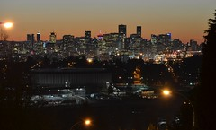 Vancouver skyline at sunset 2 (FFWoodycooks) Tags: vancouver skyline sunset pacific coliseum valentines day
