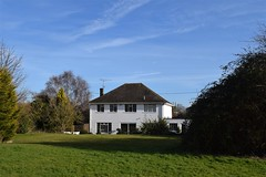 Country house (John Lawrence 438) Tags: field countryside house bush nikon d3300 white
