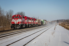 Matched (Nick Brown Photography) Tags: train railroad railfanning locomotive emd sd402 wsor cn wisconsin snow
