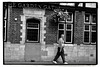 YEARNING FOR ENGLISH SUMMER? (StockCarPete) Tags: london uk hampstead topless gutbucket beerbelly tattoos thegardengate pub londonpub bw shirtless hangingbasket whitetrainers southendroad