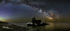 Rising Light (Images by Beaulin) Tags: grandportageindianreservation panorama nightscape starphotography landscape foregroundexposure hollowrock grandportage starscape milkyway landmarks astrophotography cookcounty hollowrockresort starrynight minnesota