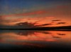 Last light on the Mersey (ronramstew) Tags: light sunset red clouds river water mersey liverpool uk reflection sky