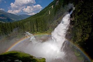 Krimml Waterfall and Rainbow