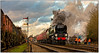 Gala Mail (Peter Leigh50) Tags: great central railway winter gala 2016 gcr battleofbritain sir keith park 34053 steam locomotive train tpo mail rail railroad signal semaphore smoke people afternoon