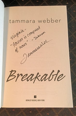 BREAKAWAY by Tammara Webber - Autographed Title Page (valeehill) Tags: book novel breakable tammarawebber contoursoftheheart autograph