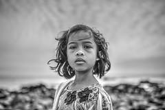 My Bored Face (swhodgeman) Tags: black white bw canon 35lii l ii beach sky girl monochrome