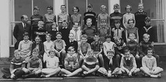 Class Photo (theirhistory) Tags: boy kid class group form school jumper girls shorts wellies teacher boots pupils students education