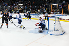 "Kansas City Mavericks vs. Toledo Walleye, January 21, 2018, Silverstein Eye Centers Arena, Independence, Missouri.  Photo: © John Howe / Howe Creative Photography, all rights reserved 2018. • <a style=""font-size:0.8em;"" href=""http://www.flickr.com/photos/134016632@N02/24969554797/"" target=""_blank"">View on Flickr</a>"