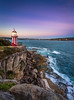 Hornby Lighthouse (yecatsiswhere) Tags: 2017 australia nsw sydney sydneyharbour lighthouse cliffs ocean harbour watsonsbay southhead architecture sunset