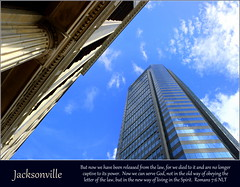 Jacksonville, Romans 7:6 (Humbly Serving Christ) Tags: jacksonville jax florida fl downtown urbancore cbd architecture skyscraper historic modern column glass up sky urban city building tower bankofamerica us usa unitedstates america duvalcounty