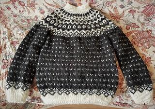 Icelandic lopi peysa wool sweater