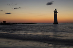 Twilight Stroll (David Chennell - DavidC.Photography) Tags: wallasey wirral newbrighton merseyside silhouette perchrocklighthouse