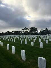 Golden Gate National Cemetery in San Bruno, California (JoeGarity) Tags: clouds veterans graves sanbruno goldengatenationalcemetery