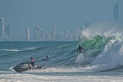 The surfing plumber - Currumbin (noompty) Tags: currumbin surfing surf surfer jetski wave water sea city goldcoast queensland pentax k1 on1pics photoraw2018 2018 hddfa150450f4556eddcaw