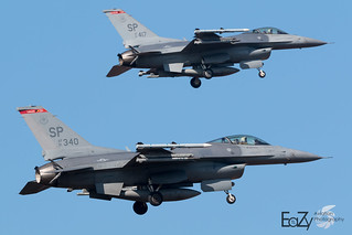91-0340 + 91-0417 United States Air Force General Dynamics F-16CM Fighting Falcon