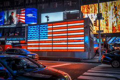 Times Square - New York City (TP17) Tags: newyorkcity nyc street people americanflag night