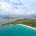 Luftbild Strand Anse Lazio auf der Insel Praslin Seychellen