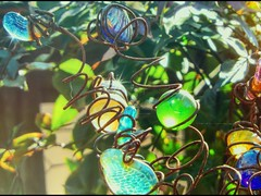 Let There Be Light (clarkcg photography) Tags: sun light rays pass glass marbles green blue yellow clear garden cold winter lettherebelight