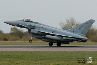 30+25 German Air Force (Luftwaffe) Eurofighter Typhoon
