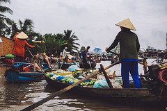 Can Tho | Small Floating Market (dogslobber) Tags: travel adventure vietnam can tho floating market mekong delta