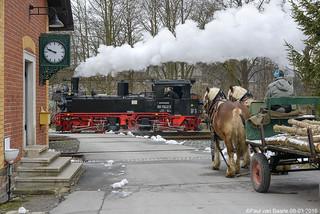 Preßnitztalbahn (1) DR 99 1542-2, 08-03-2016