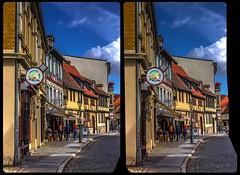 Historic Centre of Quedlinburg 3-D / CrossEye / Stereoscopy / HDR / Raw (Stereotron) Tags: sachsenanhalt saxonyanhalt ostfalen harz mountains gebirge ostfalia hardt hart hercynia harzgau quedlinburg streetphotography architecture fachwerk halftimbered house stud work antiquated ancient medieval middleages deutschefachwerkstrase europe germany crosseye crosseyed crossview xview cross eye pair freeview sidebyside sbs kreuzblick 3d 3dphoto 3dstereo 3rddimension spatial stereo stereo3d stereophoto stereophotography stereoscopic stereoscopy stereotron threedimensional stereoview stereophotomaker stereophotograph 3dpicture 3dglasses 3dimage twin canon eos 550d yongnuo radio transmitter remote control synchron kitlens 1855mm tonemapping hdr hdri raw