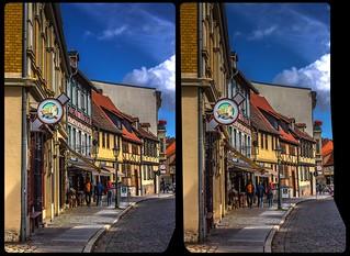 Historic Centre of Quedlinburg 3-D / CrossEye / Stereoscopy / HDR / Raw