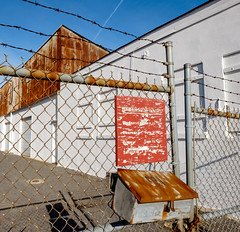 Asbury Ave. (Dalliance with Light (Andy Farmer)) Tags: nj barbedwire industrial fence asburypark newjersey unitedstates us