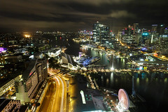 Room 3306 || Darling Harbour and Barangaroo (David Marriott - Sydney) Tags: sydney newsouthwales australia au sofitel hotel night cbd darling harbour barangaroo nightscape long exposure