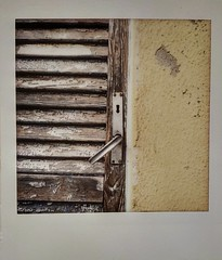 Flipped (Italian Film Photography) Tags: door decay abandon rust old paint keyhole instant instax lomoinstantsquare analog film colors