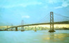 Bay Bridge, San Francisco, California (Thomas Hawk) Tags: america baybridge california sanfrancisco usa unitedstates unitedstatesofamerica vintage boat bridge postcard fav10 fav25