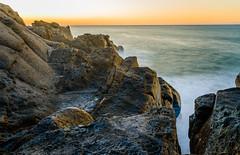 Warm Rocks, Pt. Mugu Sunrise (JohnLazo19) Tags: 2470mm beach canon5dmarkiv landscape longexposure morning ocean rocks sunrise water