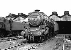 44838 (f22photographie) Tags: steamlocomotive britishrailways railwaysinthe1960s black5 blackfive 44838 edgehill edgehillmpd 8a blackandwhite monochrome