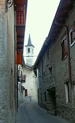 COURMAYEUR - Valle d'Aosta (cannuccia) Tags: paesaggi landscape valledaosta courmayeur vicoli chiese strade scorci