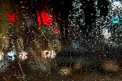behind the window ... (mariola aga) Tags: winter snow wet window street light neon bokeh night abstract art saariysqualitypictures thegalaxy