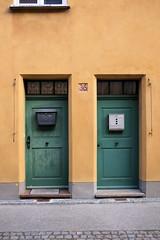 Fuggerei (awbaganz) Tags: fuggerei augsburg bayern bavaria germany facade minimalism door fuji xe1 xf27 housing socialhousing architecture city urban entrance