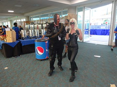 Deathstroke and the Black Canary (Sconderson Cosplay) Tags: comic con san diego sdcc 2016 cosplay deathstroke black canary